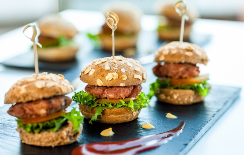 Mini-burgers served at Best of Phoenix