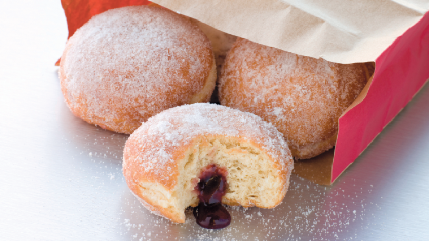 sugared jelly donuts