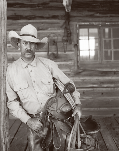 Vintage photo of rancher