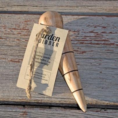 Handmade garden dibber