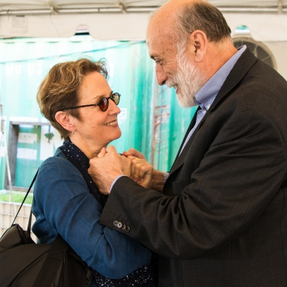 Carlo Petrini and Alice Waters at Slow Food