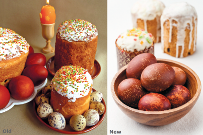 frosted cakes and hot buns