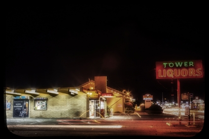 Tower Liquors sign