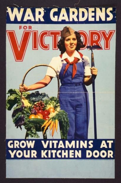 War Gardens for Victory vintage sign