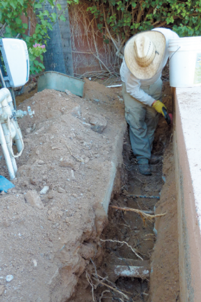 planting a garden bed, dirt