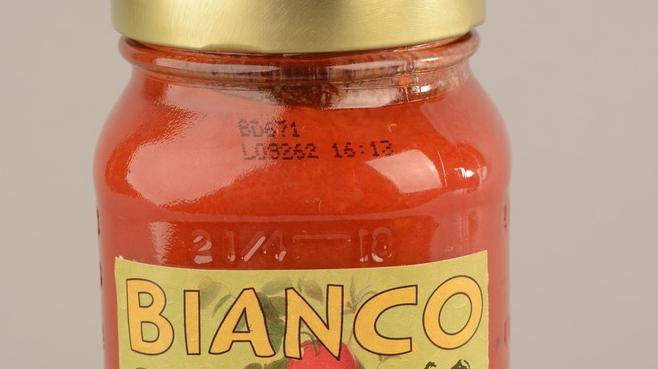 Jar of Bianco DiNapoli Organic Tomato Sauce