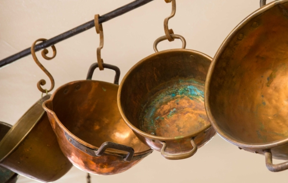 Copper Kitchenware Art