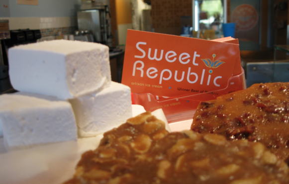 Marshmallows and brittle at Sweet Republic