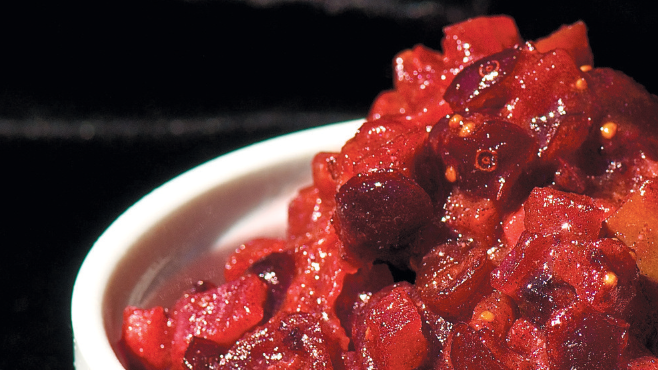 Lacto-Fermented Apple Cranberry Chutney