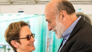 Carlo Petrini and Alice Waters at Slow Food