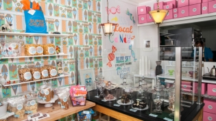 Quirky decor at Super Chunk Sweets