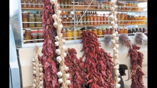 Dried chiles streetside