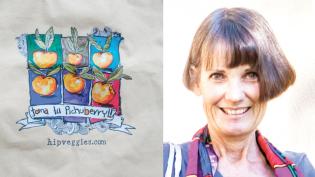 hip veggies, reusable canvas shopping bags, Monika Woolsey