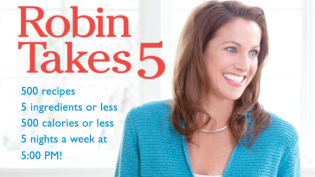 Robin Takes 5 cookbook cover