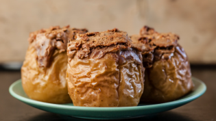 Baked Apples with Date-Nut Filling