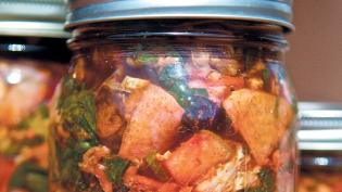 Cabbage Kimchi in Jar