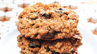 Oatmeal & Cherry Breakfast Cookies with Almonds