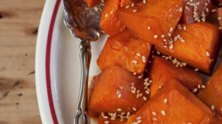 Soy Glazed Sweet Potatoes