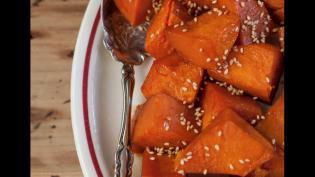 Soy Glazed Sweet Potatoes