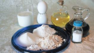 Ingredients for Gluten-Free Yogurt Rolls